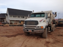 Concrete Truck at Job Site